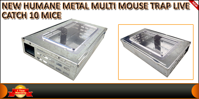 Humane Metal Multi Mouse Trap Live Catch 10 Mice