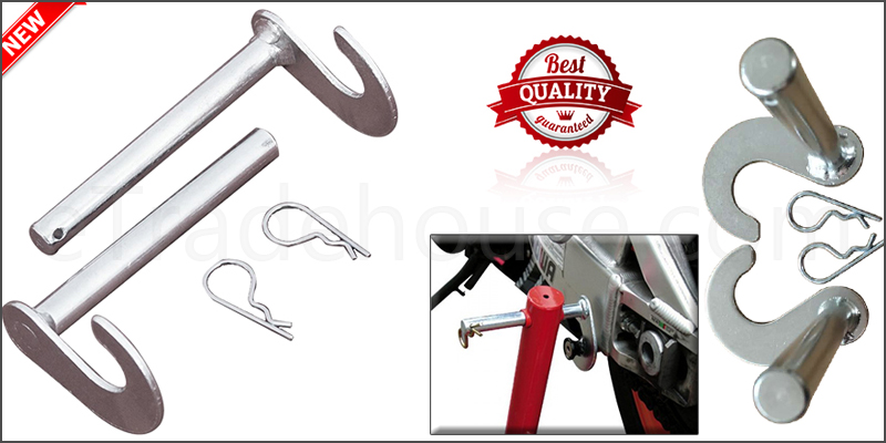 Motorcycle Bobbin Adaptors Hooks Kit for Bike Motorbike Rear Paddock Stand