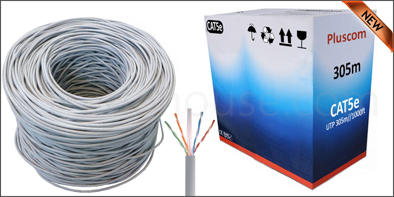 305 Meter 10/100/1000 CAT5e UTP Roll Bulk Cable Grey