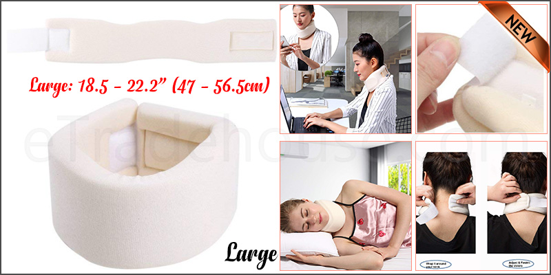 Large Soft Foam Neck Collar Support Brace Unisex Cervical Fracture Healing Aid