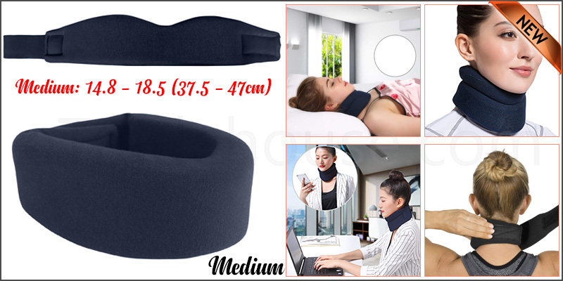 Medium Soft Foam Neck Collar Support Brace Unisex Cervical Fracture Healing Aid