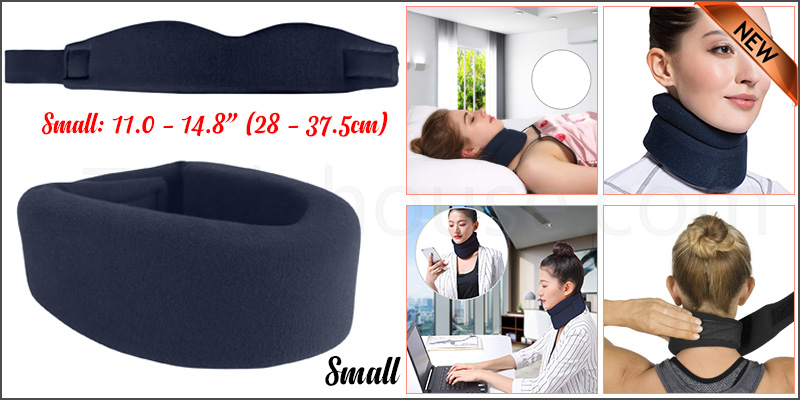 Small Soft Foam Neck Collar Support Brace Unisex Cervical Fracture Healing Aid