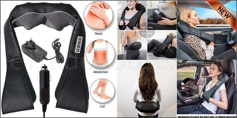 Electric Massager Shawl For Neck/Shoulder/Back/Body BLACK
