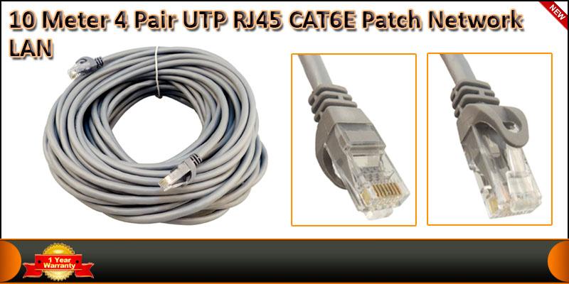 10 Meter 4 Pair UTP RJ45 Cat 6 Patch Network LAN C