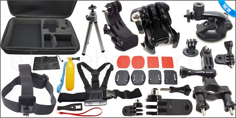 30 in 1 Pole Head Chest Mount Strap GoPro Hero 2 3