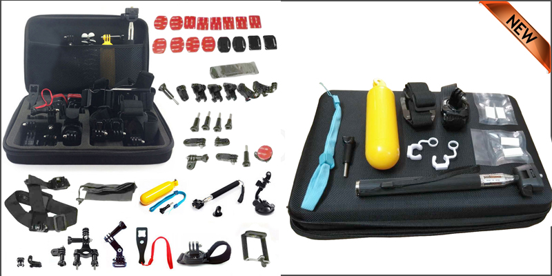 60 Pcs SJCAM Head Chest Accessories Kit for GoPro