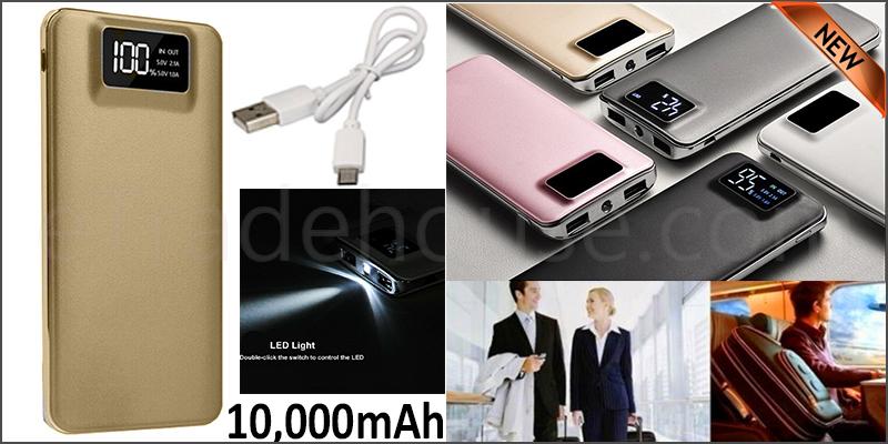 10,000mAH Dual USB Port Digital Power Bank Backup Battery Charger