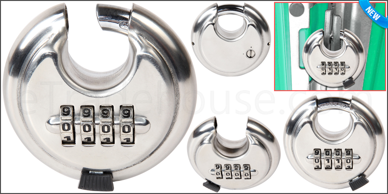 4 Digit Combination 65mm Disc Lock Padlock with Ha