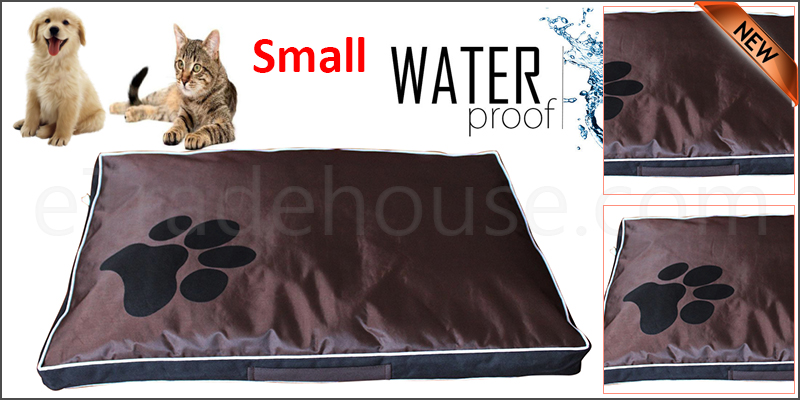DOUBLE SIDED WATERPROOF DOG PET CAT BED MAT CUSHION MATTRESS WASHABLE COVER   S black