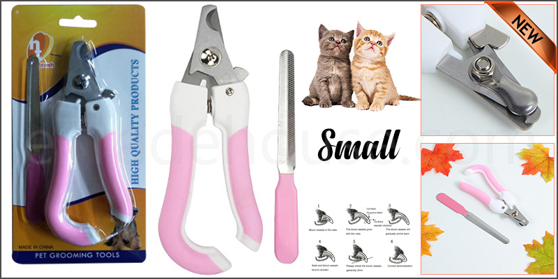 Pet Dog Cat Nail Paw Claw Clippers + Shaper Filer Scissors for Small Medium Large Animals