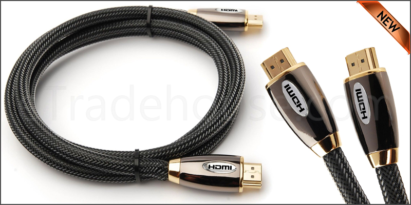 Premium 1 Meter V2.0 HDMI Cable Gold High Speed HD