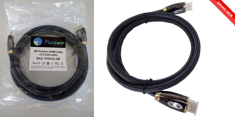 5M Premium HDMI Cable v2.0 Gold High Speed HDTV UltraHD HD 2160p 4K 3D