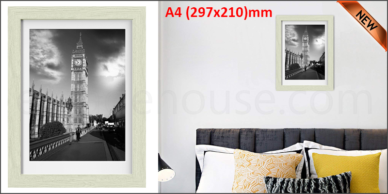 A4 11.7 x 8.3 Inches Wall Mounted Picture Photo Poster Frame MDF Board Oak