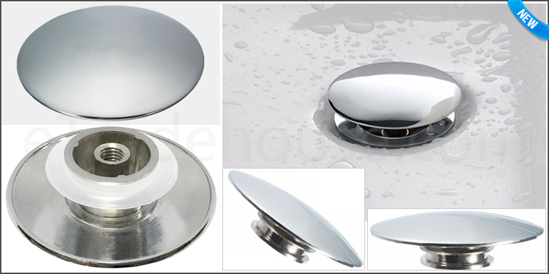 65mm Pop Up Basin Waste Bathroom Sink Push Button