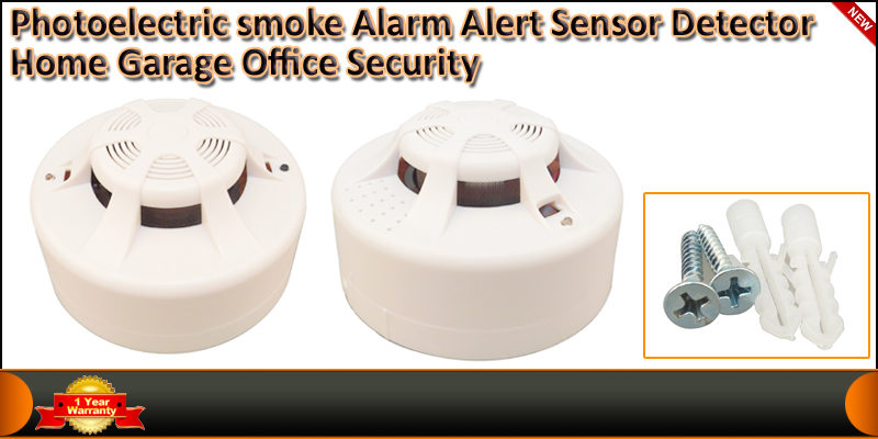 Photo-electric Smoke Alarm Alert Sensor Detector S