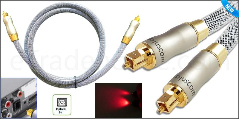1 Meter Platinum Optical Cable Digital Audio Lead