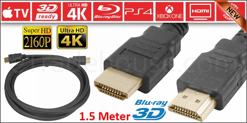 PREMIUM ULTRAHD HDMI CABLE HIGH SPEED 4K 2160p 3D LEAD 1.5m
