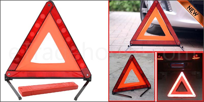 Reflective Warning Sign Foldable Triangle Car Hazard Breakdown UK/EU Emergency