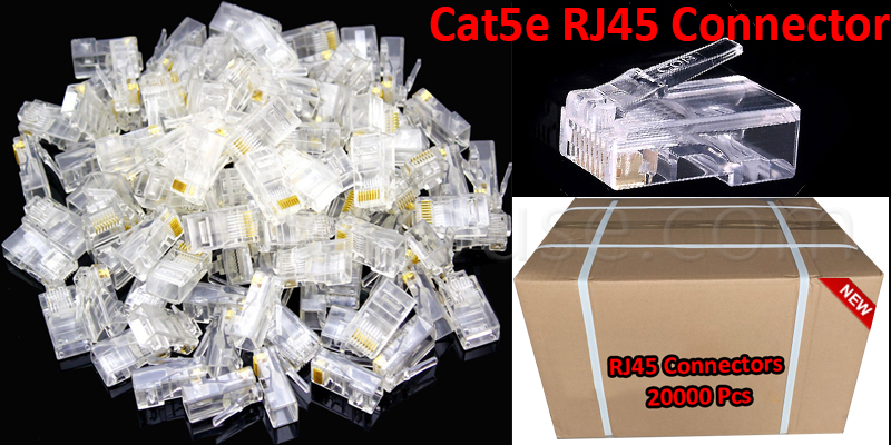 20000 RJ45 CAT5 & CAT5E Modular Plug Network Conne