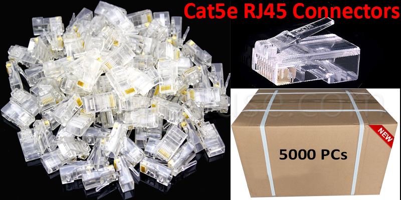 5000 RJ45 CAT5 & CAT5E Modular Plug Network Connec