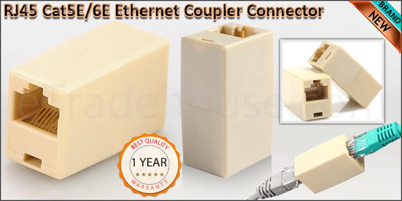 RJ45 CAT5 CAT6 Ethernet Coupler Connector