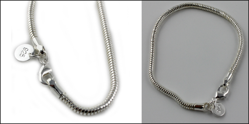 925 Sterling Silver Snake Ladies Bracelet Chain