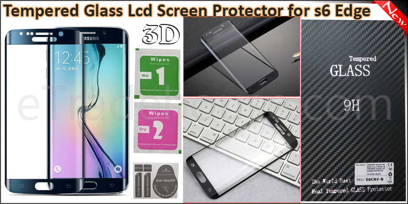 Samsung Galaxy S6 Edge Full Curved 3D Tempered Gla