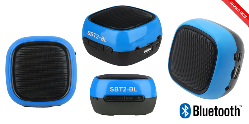 500mAh Wireless Bluetooth TF MIC Hands free Speakers with Cables