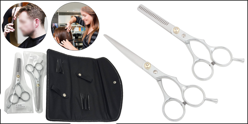 "6"" Professional Hair Cutting and Thinning Scissors Set+ Carry Case"