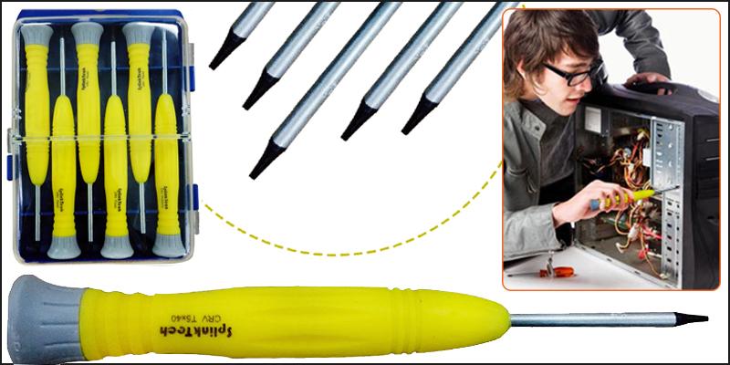 6pcs Precision Screwdriver Set for Cell Phone, Laptop 6 x 30