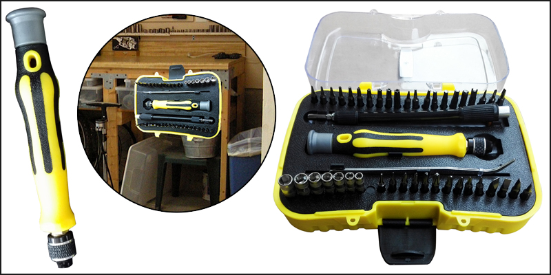 45pcs Multi-functional Screwdriver & Socket Set