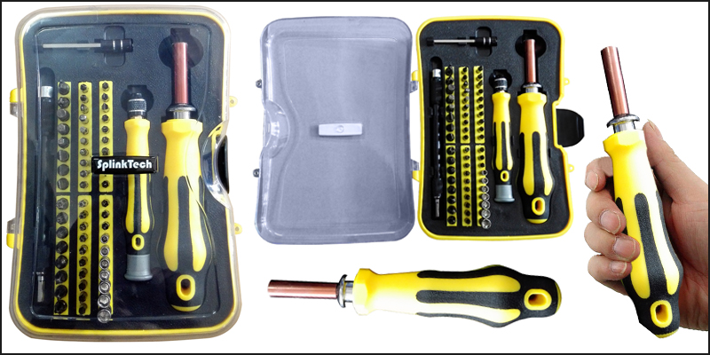 61Pcs Multi-functional Screwdriver & Socket Set