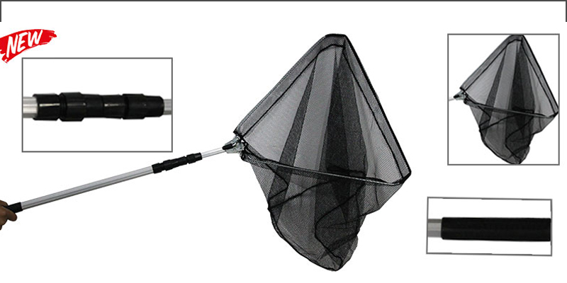 Telescopic Folding Extendable Landing Fishing Fly Carp Coarse Sea Game Net