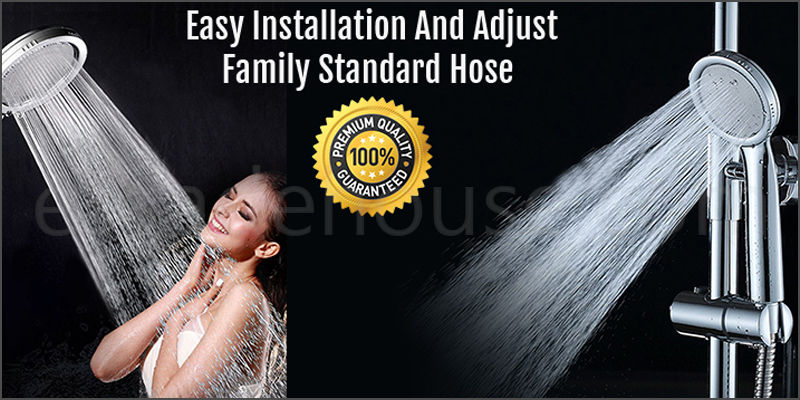 High Turbo Pressure Shower Head Bathroom Powerful Energy Water Saving Filter