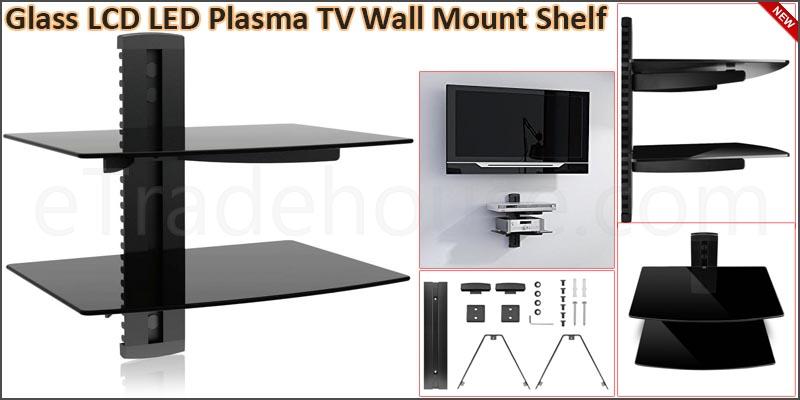 Glass LCD LED Plasma TV Wall Mount Shelf for Sky D