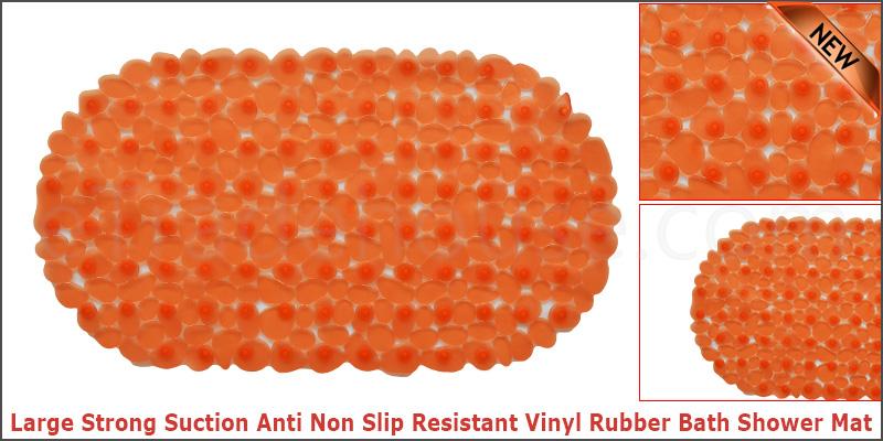 Large Strong Suction Anti Non Slip Resistant Vinyl Rubber Bath Shower Mat