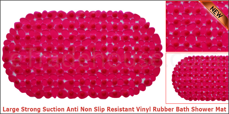 Large Strong Suction Anti Non Slip Resistant Vinyl Rubber Bath Shower Mat