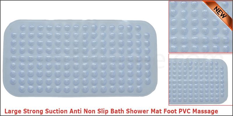 Large Strong Suction Anti Non Slip Bath Shower Mat Foot PVC Massage