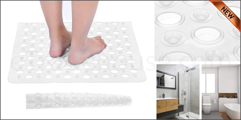 Bath Shower Mat Non-Slip PVC Bathroom Rubber Mats Anti Slip Suction
