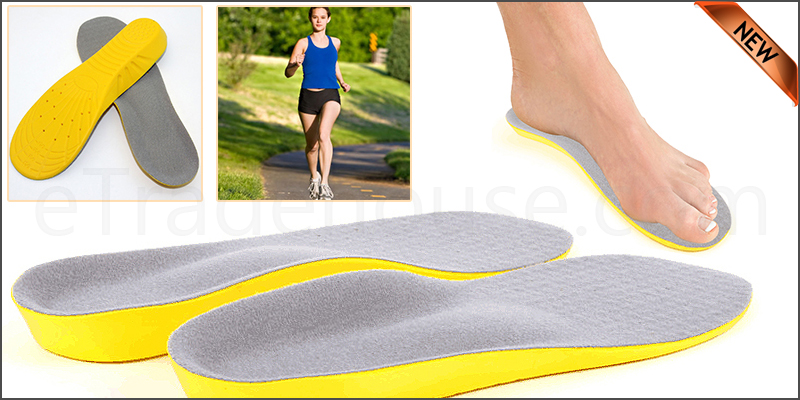 Memory Foam Unisex Orthopedic Shoe Pads Trainer Fo