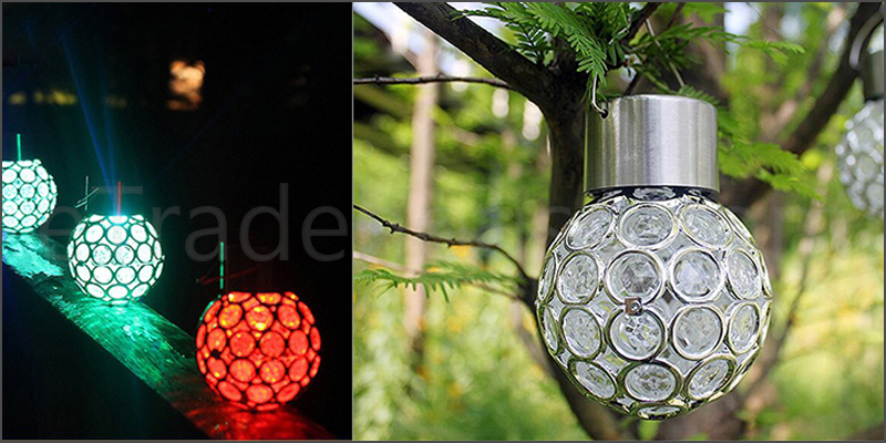 7 Changeable Colors Sensor Hanging LED Solar Light Lantern Ball