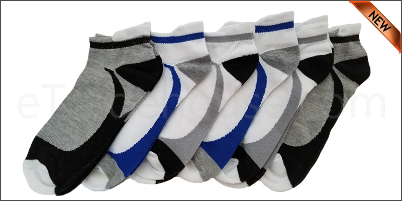 6 Pairs Mens Trainer Liner Ankle Socks Funky Designs Adults Sports  (OPTION 10 )