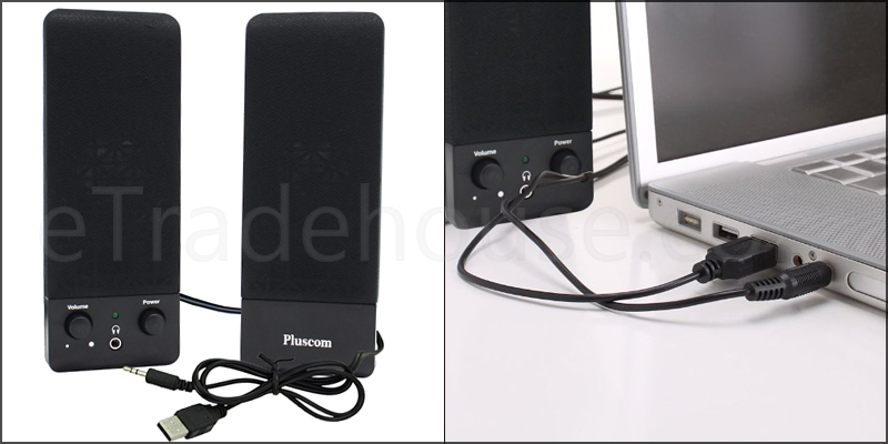2.0 USB Multimedia Speaker for Laptop PC Desktop