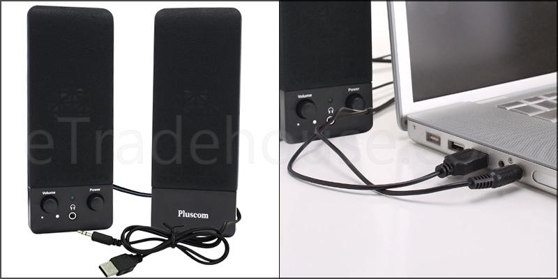 2.0 USB Multimedia Speaker for Laptop PC Desktop
