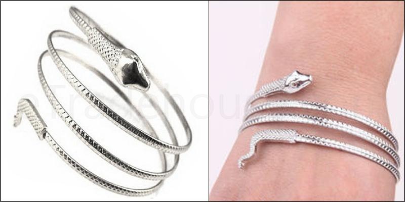 Coiled Snake Spiral Upper Arm Bangle Bracelet Ankl