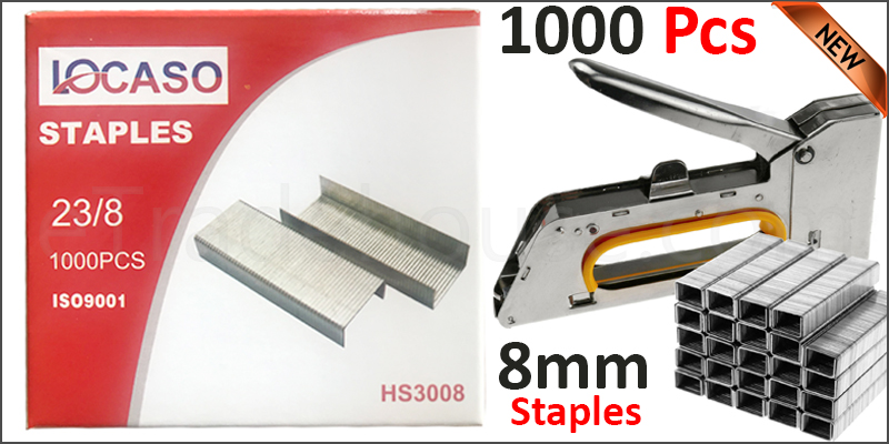 1000pc 8mm Staples Staple Gun Tacker Pack of 1000 Upholstery