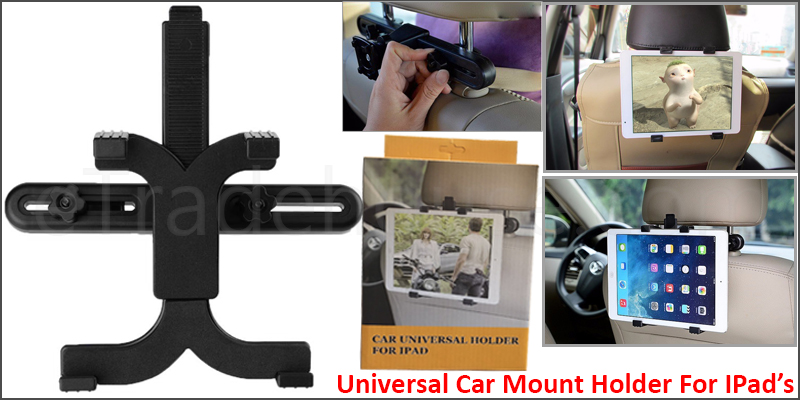 Universal Headrest Cover Car BackSeat Holder Mount upto 10 Inches