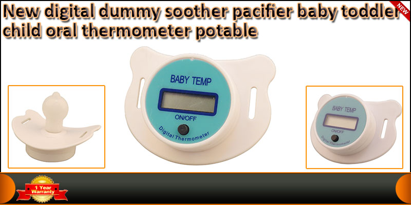 Portable Digital Soother Pacifier Baby Toddler Chi