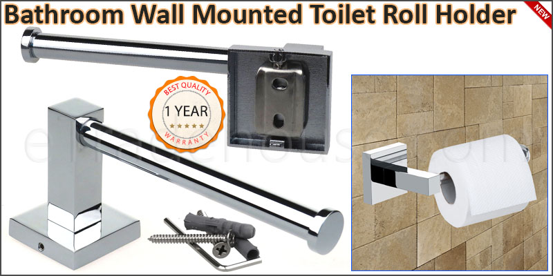 Bathroom Accessory - Wall Mounted Square Toilet Ro