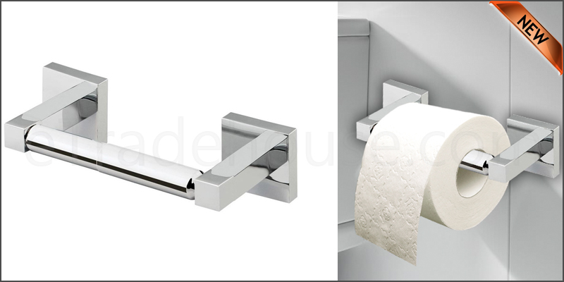 Square Bathroom Bar Toilet Roll Holder